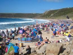 People_Clamboring_Beach