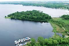 Lake Delavan Aerial View